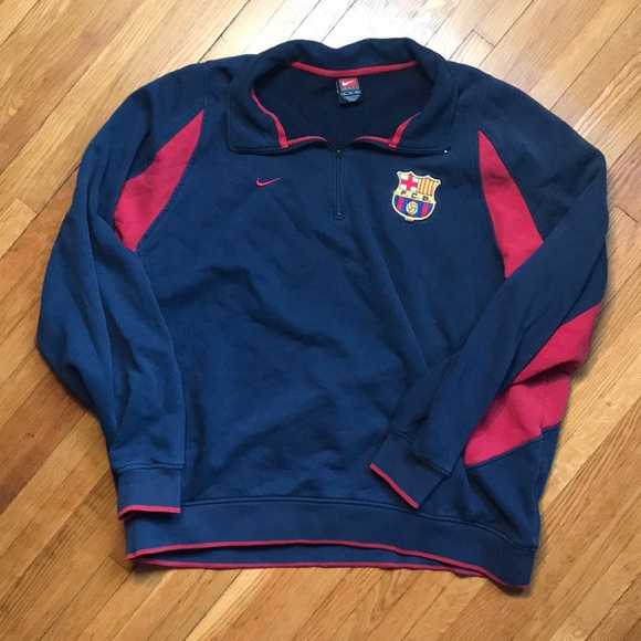 4b046f51ab5 Nike Sweaters | Vintage Fc Barcelona Mens Xl Track Jacket | Poshmark